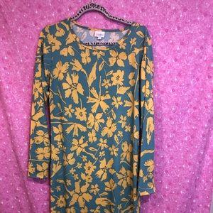 New Lularoe XL Debbie Floral Long Sleeve Dress